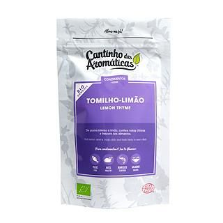 Tomilho-Limão, Biológico, Cantinho das Aromáticas, aroma intenso a limão, notas cítricas, utilizar em peixe, aves, marisco e saladas