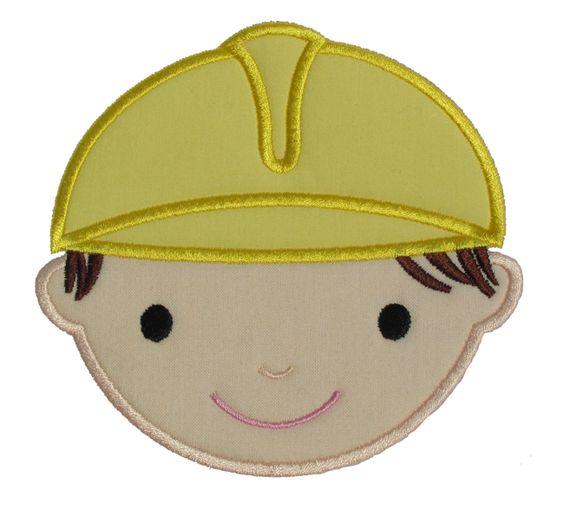 Hard Hat Boy Applique Design
