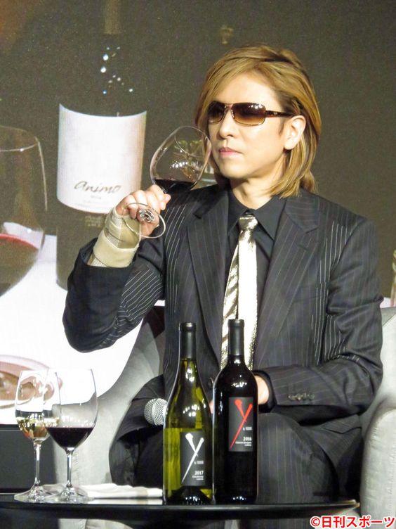 「Y by Yoshiki」新作ワイン発表会でのXJAPAN・YOSHIKIの画像