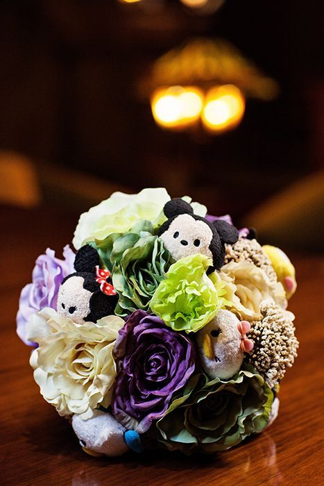 This Disney Tsum Tsum inspired bridal bouquet had us at hello