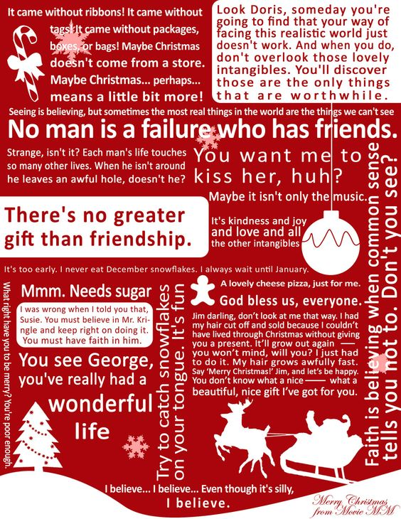 Christmas Poster 1 Its a Wonderful Life quotes Quotes