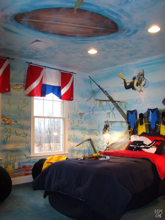 Scuba Theme Bedroom