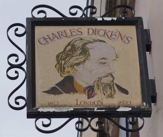 Pub Sign Art a la cARTe: The Charles Dickens - Weston super Mare, Somerset