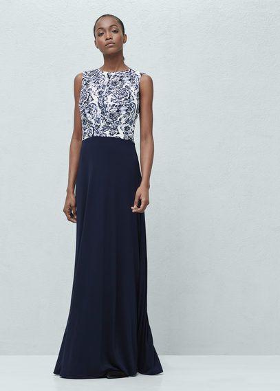 Vestido largo combinado | MNG
