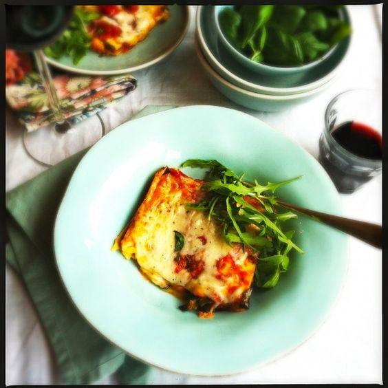 Aubergine lasagne Made by Ellen