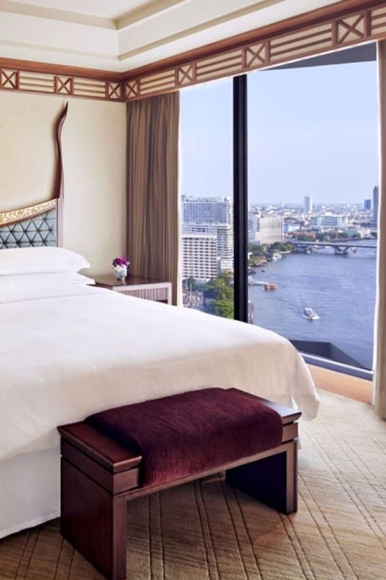 Stunning Presidential Suite at Royal Orchid Sheraton Hotel, with views of the gorgeous riverside.