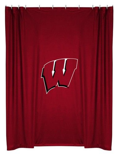 Curtains Ideas curtains madison wi : University of Wisconsin Badgers Kids Fabric Shower Curtain ...