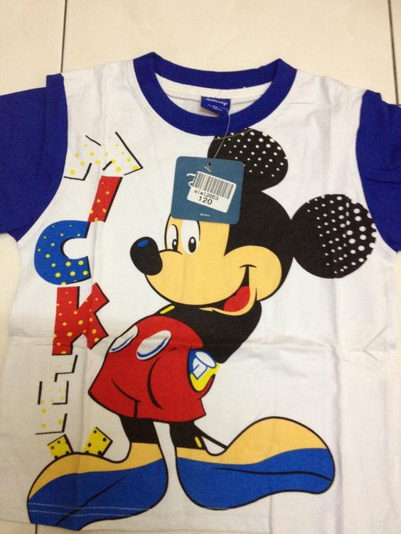 Blue Mickey Cartoon Tee