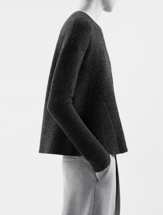 Minimalist Knitwear with clean lines & structured silhouette; chic simplicity // COS: