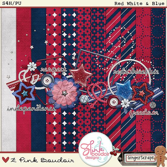 Red White & Blue by Z Pink Boudoir