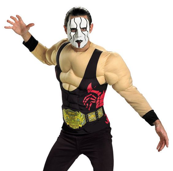 Adult Sting Mens Professional Wrestler Halloween Costume XL #Disguise