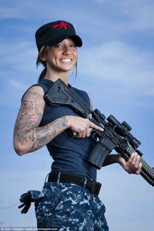 Amateur soldier girl