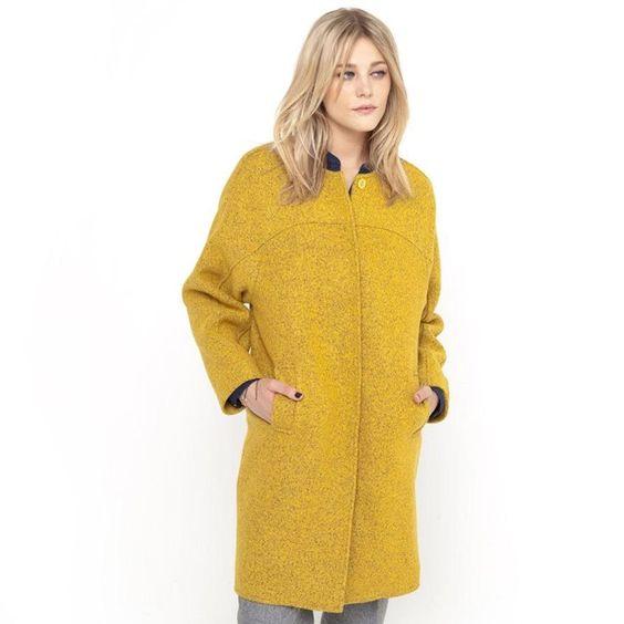 Manteau laine bouillie SOFT GREY
