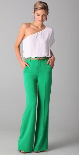 high waist kelly green pants