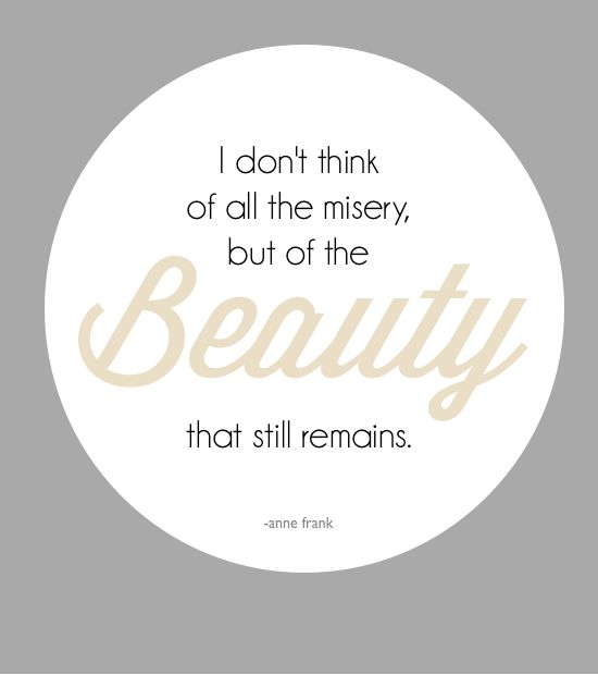 Think of the beauty that remains. www.thenester.com