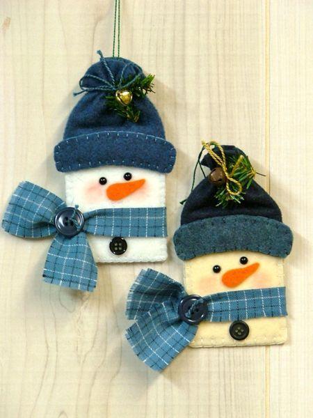 feltro bonecos de neve                                                                                                                                                      Mais: