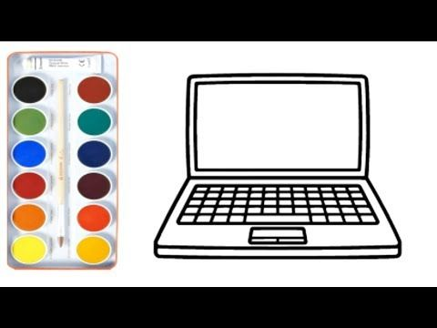 Coloring For Kids With Mobile Phone Laptop Smartphone