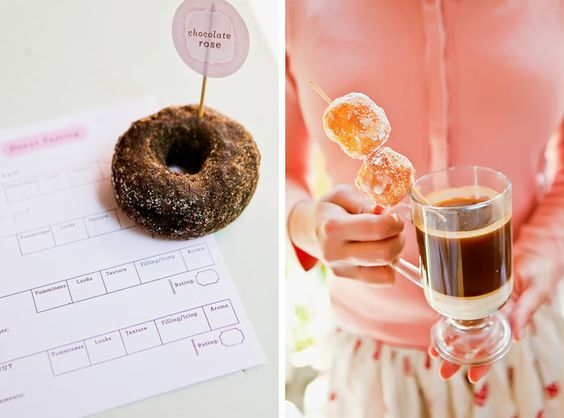 EAT DRINK PRETTY: Coffee and doughnut tasting party