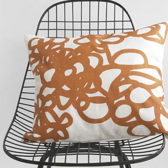 Daisy Pillow Orange