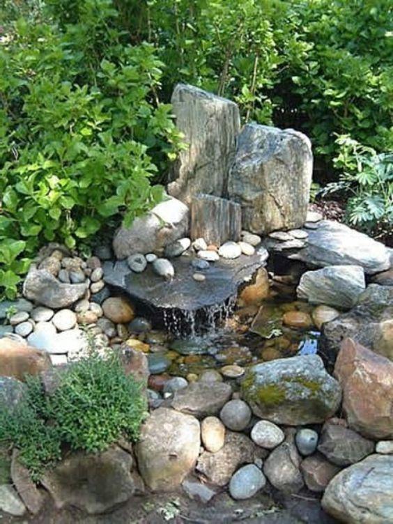 Cascade et  fontaine de jardin , 69 déco pour les moments de relaxe - cascade-et-fontaine-pierre
