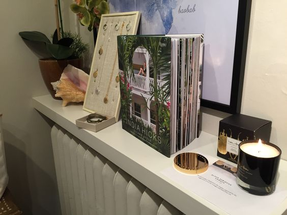 India Hicks Black Hibiscus Candle, IH Island Style and IH Love Tokens at 411 Top Floor Boutique Get Together.