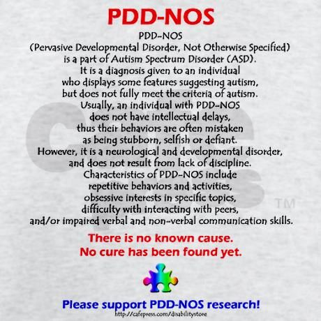 PDD-NOS Facts....Here we go, Em! Since we never really knew. @Emily Schoenfeld Schoenfeld Schoenfeld Jensen---not saying Christopher has this but does make some sense to me...