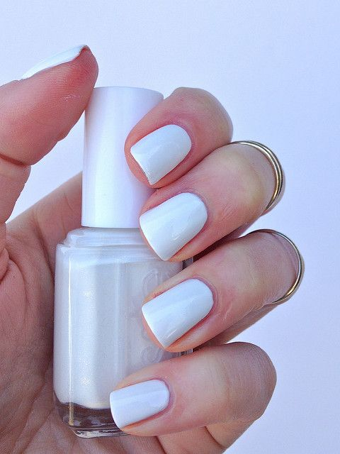 ❤️Essie Private Weekend - opaque white w/ translucent shimmer - 2 coats - best applied with Essie Fill the Gap ridgefiller as base coat, Essie Pure Pearlfection for a hint of shimmer and Good to Go Topcoat to smooth. Private Weekend is an opaque white filled with tiny translucent shimmer. It has a very opaque and thick formula (almost obnoxiously so). The dense fine glitter doesn't show up on the nail but makes application pretty gritty. After trying it a couple times, I discovered I had a…