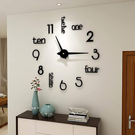 Fashion 3d Diy Wall Clock Decor Sticker Mirror Frameless Large Diy Wall Clock Kit For Home Living Room Bedro In 2020 Clock Wall Decor Bedroom Wall Clock Diy Clock Wall