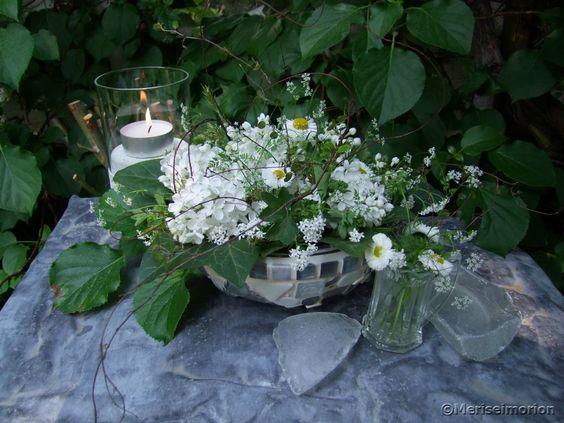 Tischdeko Weißer Flieder  Meine Blumendeko  Pinterest  Blog page ...
