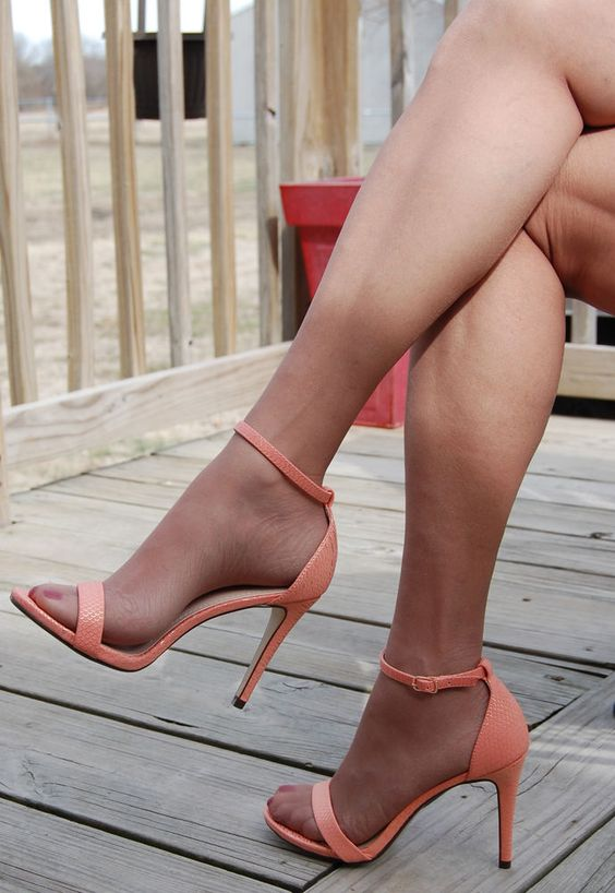 Delicious Shoes- Sexy Salmon Color Open Toe High Heel Sandals Size ...