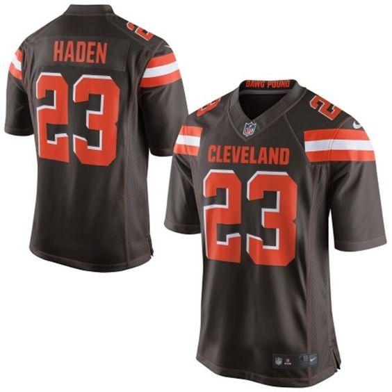 Nike Cleveland Browns 23 Joe Haden Elite Brown New Jersey $22
