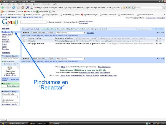 adjuntar-archivo-gmail by carolina_zapata via Slideshare