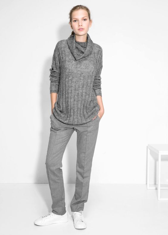 MANGO - Ribbed mohair-blend sweater #FW14