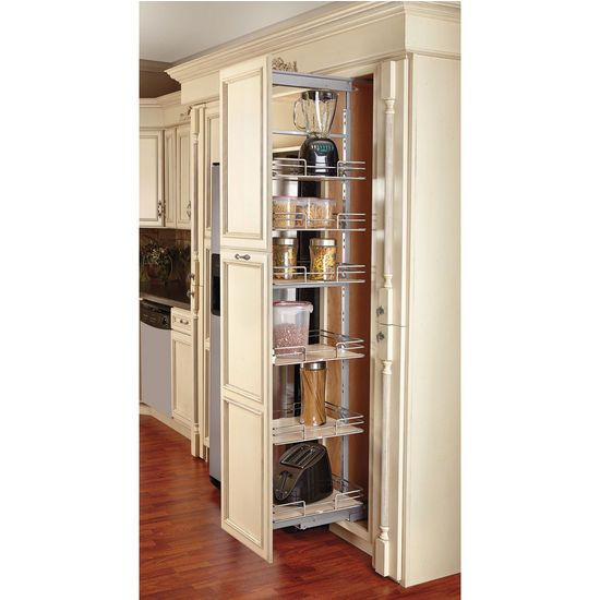 Tall Kitchen Storage Units: Rev-A-Shelf Pull-Out Pantry With Maple Shelves For Tall