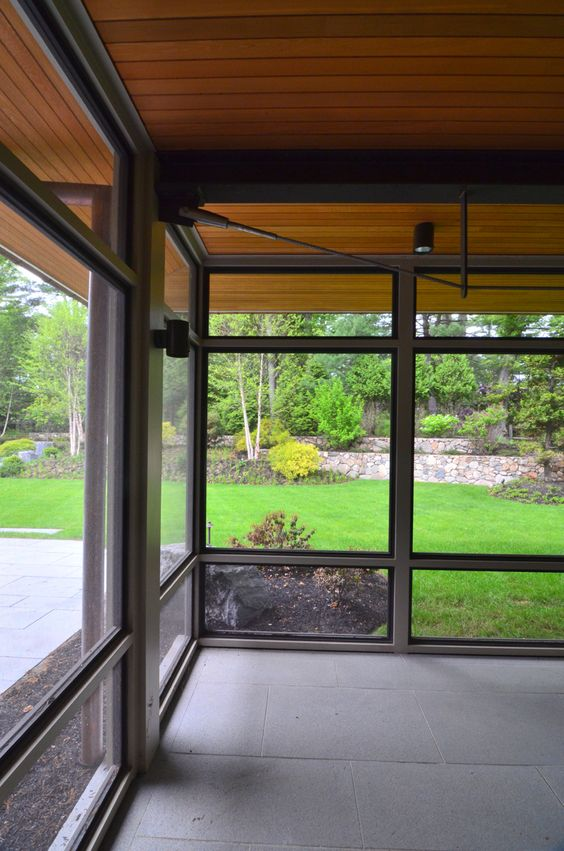 A Modern Screen Porch Beautifully Links This Wellesley