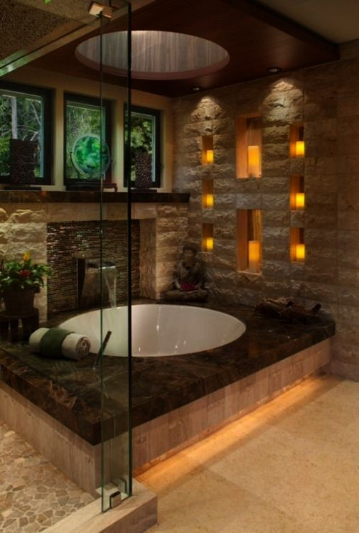 Elegant Bathroom Lighting Ideas Luxury Resort Bathrooms Asian