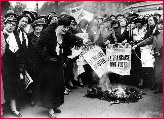 Lutte des femmes pour le droit de vote