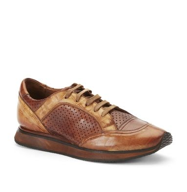 Kenneth Cole Ice Breaker Leather Sneaker In Tobacco Color - I've got it!