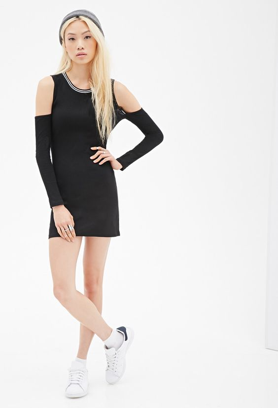 Cutout Knit Bodycon Dress | Forever 21 - 2052287916