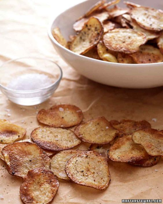 Baked Potato Chips. Better alternative to buying a bag of chips for the kids.