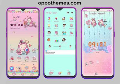 Kawaii Girl Theme For Oppo Realme Smartphone Aplikasi Wallpaper Lucu Lucu