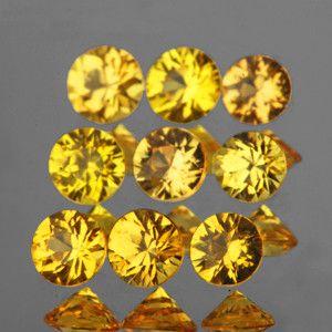1.00 Cts 9P RND 2.80mm DIAMOND CUT GOLDEN YELLOW SAPPHIRE