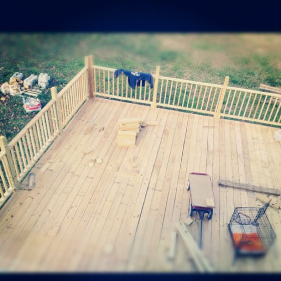 The giant deck we built - almost done