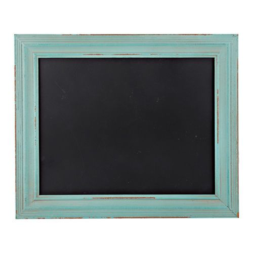 "Chalkboard with Jute Hanger, Teal, 11"" x 14"" in color ."