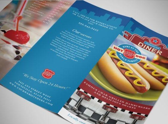 americanclassicdinerrestaurantbrochuretemplate – Restaurant Brochure Template