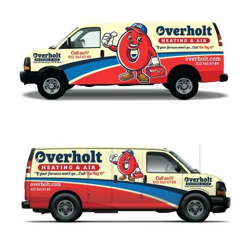 Truck Wrap For A Family Owned Heating And Air Conditioning Company