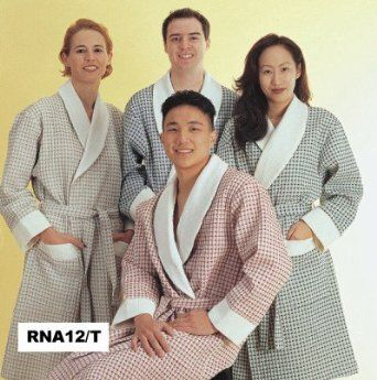 Beautiful Two-tone Waffle Robe Made From the Finest Italian Fabric, and Styled and Sewn in the USA (Regularly 149.90, Clea...