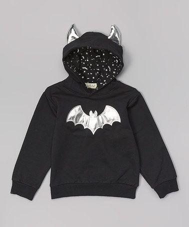 Look at this #zulilyfind! Black & Silver Bat Hoodie - Infant, Toddler & Boys #zulilyfinds