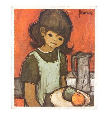 Jaklien Moerman Mädchen mit Schürze Miniatur