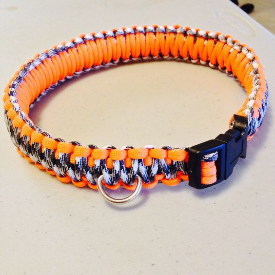 Colors paracord and collars on pinterest for Paracord leash instructions